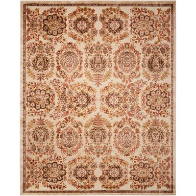 Bel Air Versailles Ivory Area Rug Rug Size: Rectangle 36 x 56
