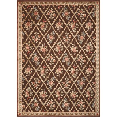 Villa Retreat Washington Estate Chocolate Area Rug Rug Size: Rectangle 53 x 75