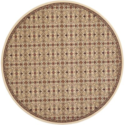 Antiquities Brown Area Rug Rug Size: Round 53