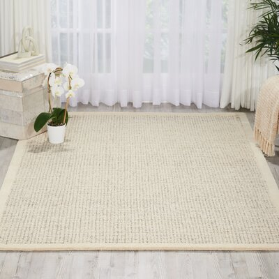 River Brook Hand-Tufted Ivory/Gray Area Rug Rug Size: 79 x 99