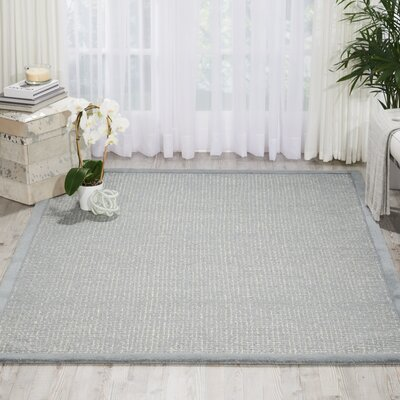 River Brook Hand-Tufted Blue/Ivory Area Rug Rug Size: 53 x 75