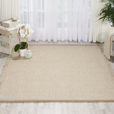 River Brook Hand-Tufted Taupe/Ivory Area Rug Rug Size: 39 x 59