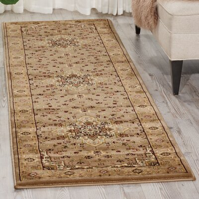 Antiquities Beige Area Rug Rug Size: Runner 22 x 76