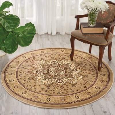 Antiquities Beige Area Rug Rug Size: Round 39