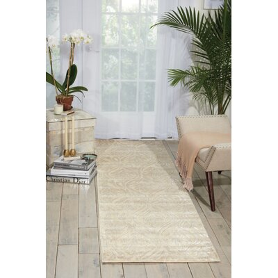 Hollywood Shimmer Beige Area Rug Rug Size: Runner 23 x 8