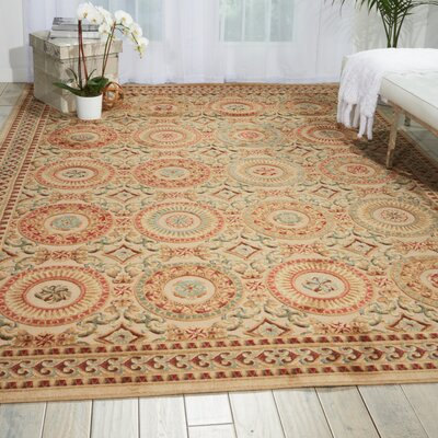 Villa Retreat Celestial Elegance Cream Area Rug Rug Size: 53 x 75