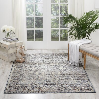 Malta Gray Area Rug Rug Size: Rectangle 3'11