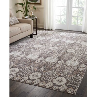 Silver Screen Mocha/Slate Area Rug Rug Size: Rectangle 910 x 132