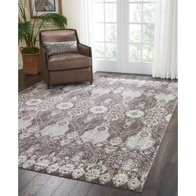 Silver Screen Mocha/Slate Area Rug Rug Size: Rectangle 53 x 73