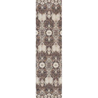 Silver Screen Mocha/Slate Area Rug Rug Size: Runner 22 x 76