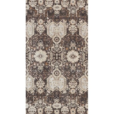 Silver Screen Mocha/Slate Area Rug Rug Size: Rectangle 22 x 39