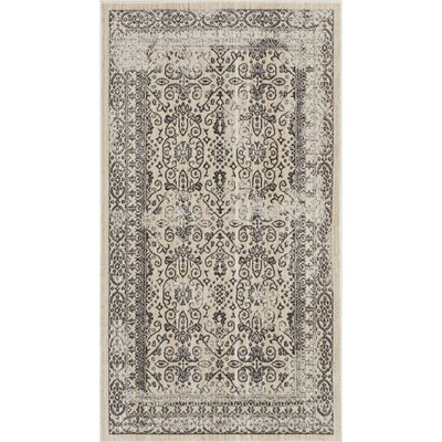 Silver Screen Gray Area Rug Rug Size: Rectangle 22 x 39