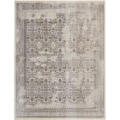 Silver Screen Gray Area Rug Rug Size: Rectangle 8 x 10