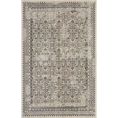 Silver Screen Gray Area Rug Rug Size: Rectangle 4 x 6
