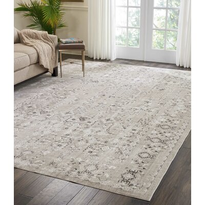 Silver Screen Latte Area Rug Rug Size: Rectangle 910 x 132