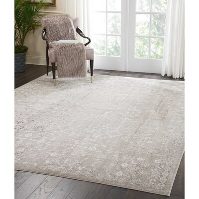 Silver Screen Latte Area Rug Rug Size: Rectangle 53 x 73