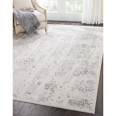 Silver Screen Ivory/Gray Area Rug Rug Size: Rectangle 53 x 73