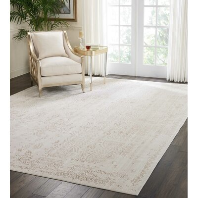 Silver Screen Ivory/Mocha Area Rug Rug Size: Rectangle 9 x 12