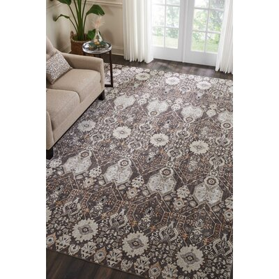 Silver Screen Mocha/Slate Area Rug Rug Size: Rectangle 9 x 12