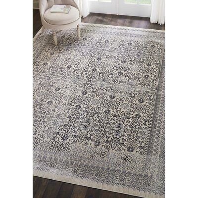 Silver Screen Gray Area Rug Rug Size: Rectangle 8 x 10