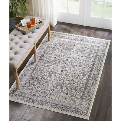 Silver Screen Gray Area Rug Rug Size: Rectangle 4 x 6