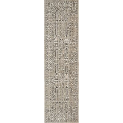 Silver Screen Latte Area Rug Rug Size: Runner 22 x 76