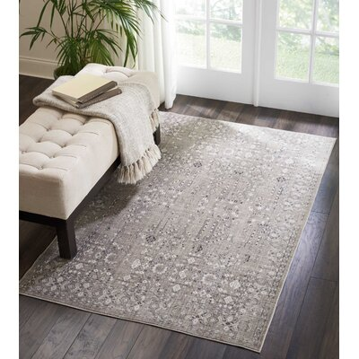 Silver Screen Latte Area Rug Rug Size: Rectangle 4 x 6