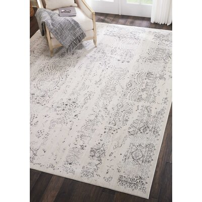 Silver Screen Ivory/Gray Area Rug Rug Size: Rectangle 8 x 10