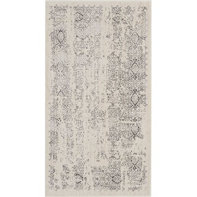 Silver Screen Ivory/Gray Area Rug Rug Size: Rectangle 22 x 39