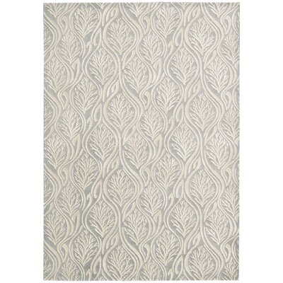 Hollywood Shimmer Paradise Cove Light Gray Area Rug Rug Size: Rectangle 79 x 1010