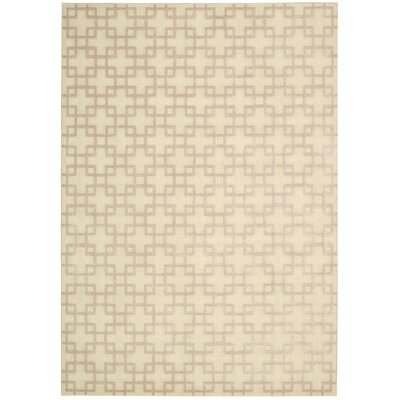 Hollywood Shimmer Times Square Tan Area Rug Rug Size: Runner 23 x 8