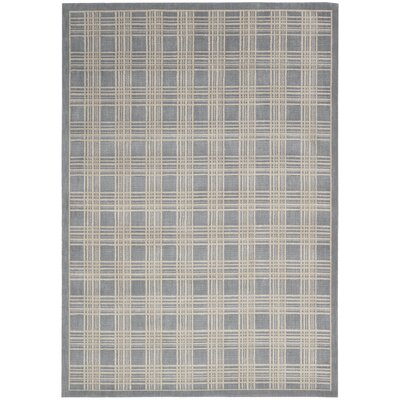 Hollywood Shimmer Mission Craft Gray/Ivory Area Rug Rug Size: 93 x 129