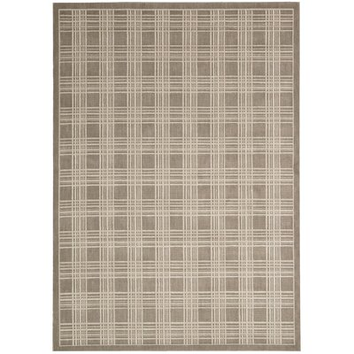 Hollywood Shimmer Mission Craft Gray/Tan Area Rug Rug Size: 53 x 75