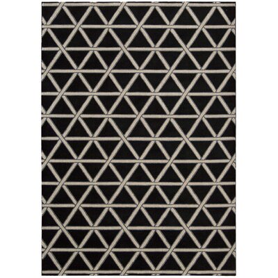 Hollywood Shimmer Metro Crossing Black/Gray Area Rug Rug Size: 53 x 75