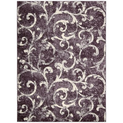 Santa Barbara El Palacio Purple/Cream Area Rug Rug Size: 710 x 1010