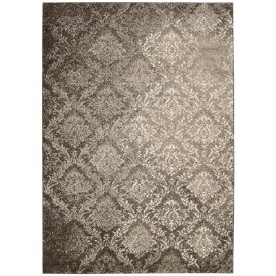 Santa Barbara Royal Shimmer Beige/Brown Area Rug Rug Size: 93 x 129