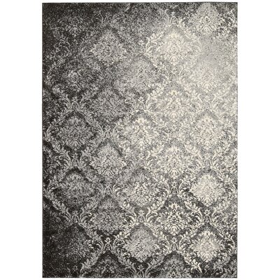 Santa Barbara Royal Shimmer Gray Area Rug Rug Size: 39 x 59