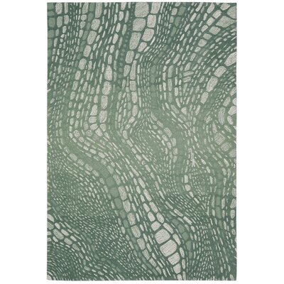 Palisades Lava Flow Hand-Tufted Aqua Area Rug Rug Size: Rectangle 5 x 76