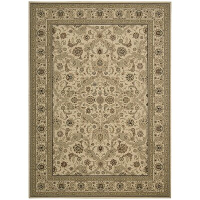 Lumiere Royal Countryside Beige Area Rug Rug Size: 36 x 56