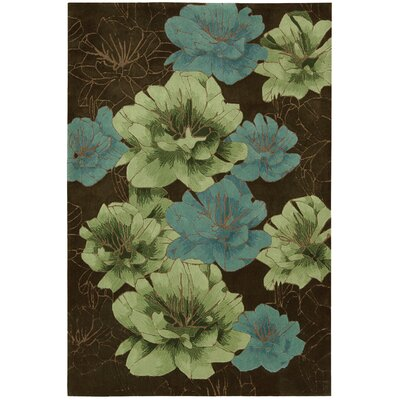 Palisades Joshua Blossom Hand-Tufted Brown/Green/Blue Area Rug Rug Size: Rectangle 5 x 76