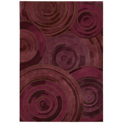 Palisades Ovation Hand-Tufted Plum Area Rug Rug Size: Rectangle 5 x 76