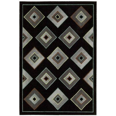 Palisades Retrotimes Black Area Rug Rug Size: Rectangle 8 x 106