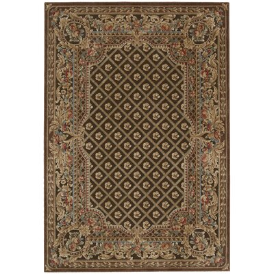 Villa Retreat Garden Romance Chocolate Area Rug Rug Size: Rectangle 53 x 75