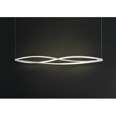 Twist 3-Light Kitchen Island Pendant Shade Color: White