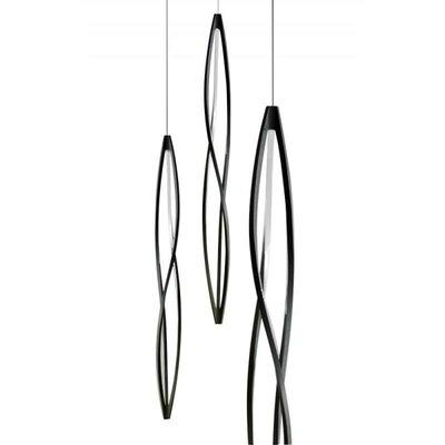 Octavio Drop 3-Light Geometric Pendant Shade Color: Black