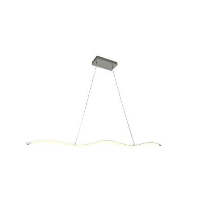 Clementina 1-Light LED Kitchen Island Pendant Finish: Silver