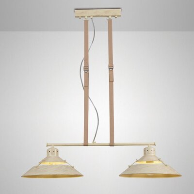 Spindler 2-Light Kitchen Island Pendant Shade Color: Brown