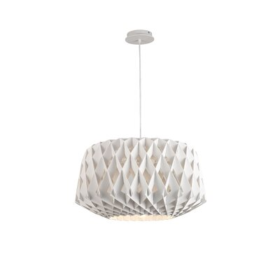 Thiede 1-Light Drum Pendant Shade Color: White