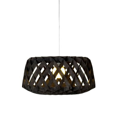 Thiede 1-Light Drum Pendant Shade Color: Black