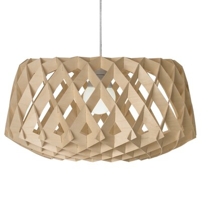 Thiede 1-Light Drum Pendant Shade Color: Natural